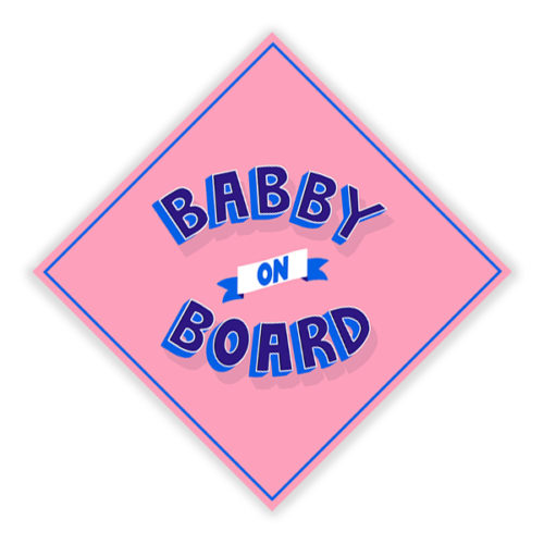Babby on board pink