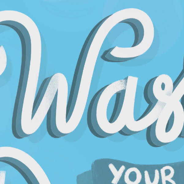 Wash your Donnies Print Close Up