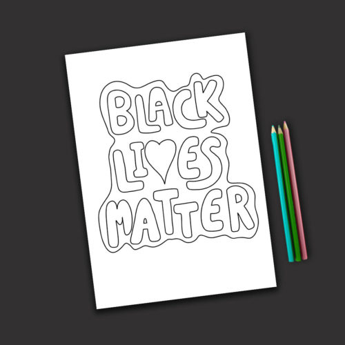 Black Lives Matter Free Colouring Page